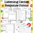 My listening center response forms are a great way for your students to respond to a listening center story!  You can model completing the listenin...