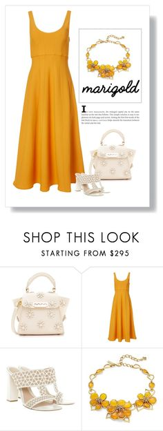 """Mary Gold"" by patricia-dimmick ❤ liked on Polyvore featuring ZAC Zac Posen, TIBI, Alexander McQueen, Oscar de la Renta and marigold"