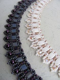 Tutorial for beadwoven tila bead necklace 'To the Point ...