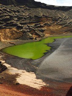 The Green Lagoon, El Golfo, Lanzarote ☀️
