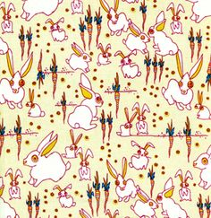 Would love to get the Tan or Grey version of this Garden Friends FreeSpirit Quilting Fabric for Usagi-chan <3