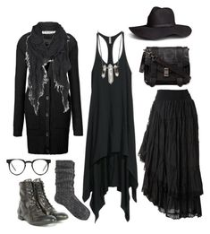 """Wood witch wardrobe #3"" by n-nyx ❤ liked on Polyvore featuring H&M, Raxevsky, Gestuz, H by Hudson, AllSaints, ZoÃ« Chicco, Spitfire, River Island and Proenza Schouler"