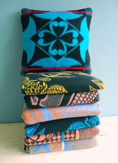 NOUSH - Basotho cushion cover and blankets South African Decor, South African Design, African Wear, African Fashion, African Style, Shweshwe Dresses, African Interior, African Market, African Accessories