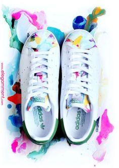 Adidas Stan Smith Originals Custom Collage Pattern Deuce Brand