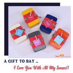 Being in love with someone is a beautiful experience. Expressing your love is even more beautiful. Here is a 5 senses love gift to express your love in a unique way! Visit our website to know what the gift entails. Love Gifts, Unique Gifts, 5 Sense Gift, Taste And See, Say I Love You, Surprise Gifts, True Love, Valentines Day, Romantic