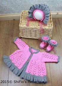 Ruffled Edge Matinee Knitting Pattern #188