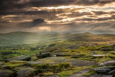 Moody skies over the Hope Valley from Stanage Edge
