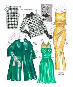 Doris Day...I started making my own paper dolls and clothes in kindergarten
