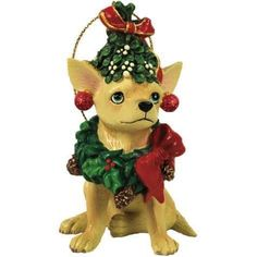 Aye Chihuahua Wreath Chihuahua Ornament from Westland Giftware