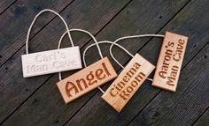 Beautifully Crafted Personalisable Solid Oak Engraved Hanging Sign from Bramble Signs