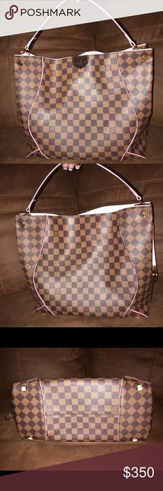 Louis Vuitton Caissa Handbag Gorgeous NWOT Non-Authentic LV Caissa Handbag. Large size (15 x 12 x 7) - Perfect Condition. Comes with dust bag from smoke free home. Beautiful Bag just too big for my style - feel free to make an offer!!! Louis Vuitton Bags Hobos