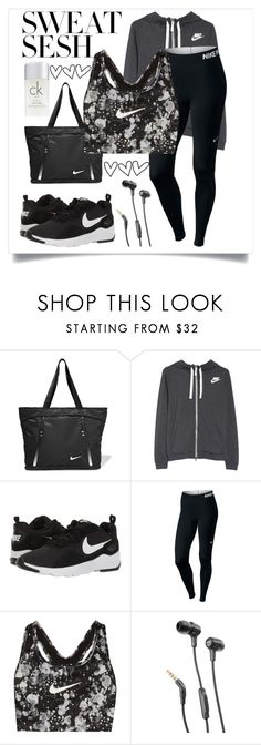 """""""❤️Go for it❤️"""" by heythatsalya ❤ liked on Polyvore featuring NIKE, JBL, Calvin Klein and sweatsesh"""