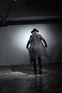 ByTheR - Extra-Long Wrinkled Button-Up Gown-Shirt