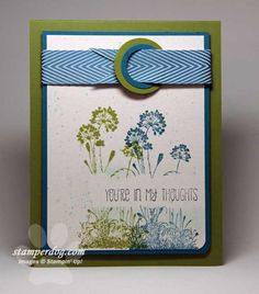 Happy First Day of Summer - by Ann Clemmer. The buckle would be good on male cards. Nice colour scheme too.