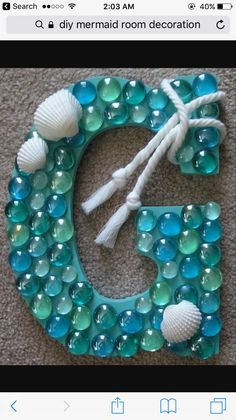 cute idea for Brie's party - maybe small letters with girl's first initials and let them glue gems on