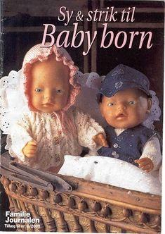 Trico Croche & Artesanato: Revista Bonecas Tricô,Costura E Moldes-Sy & Strik Til Baby Born Christmas Baby Announcement, Fun Baby Announcement, New Baby Announcements, Knitting Dolls Clothes, Knitted Dolls, Doll Clothes, Ag Dolls, Reborn Dolls, Baby Knitting