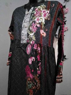 Shalwar and frock design with. neckline and scarf. soft lillen fabric and embroidery to. Pakistani Lawn Suits, Pakistani Designer Suits, Indian Bollywood, Bollywood Fashion, Bollywood Costume, Carpet Fitting, Frock Design, Eid Collection, Just Girly Things