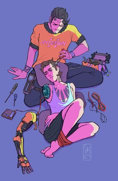 Replace Rhys and Jack from Borderlands with Ethan and Ella Respectively