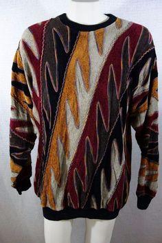 Vintage Coogi Style Black White Grey Sweater // 90's // Vintage Cosby Style Sweater // 90's Coogi Style Sweater // Vintage Coogi // Large SKD88Jk