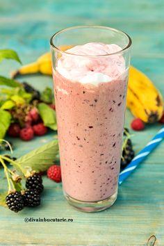 Photo about Fresh milkshake with banana, raspberries blackberries and blackcurrants. Image of drink, cocktail, healthy - 56654018 Blackberry, Raspberry, Detox Shakes, Cocktails, Drinks, Frappe, Milkshake, Glass Of Milk, Food And Drink