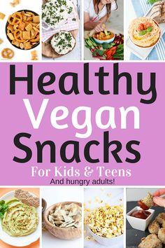 Healthy Vegan Snacks for Kids & Teens (Savory Edition!) #snack #dip #veggies