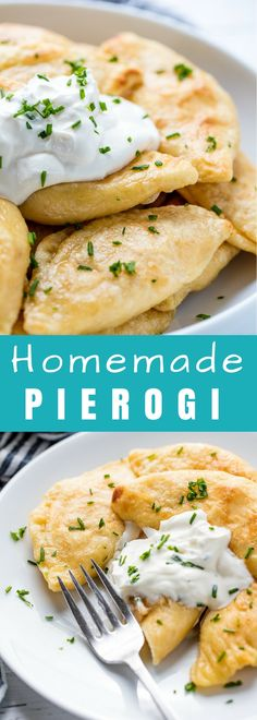 Homemade Pierogi are stuffed with a flavorful potato and cheese mixture, boiled, and fried up in melted butter for a delicious, indulgent, total comfort food dinner.