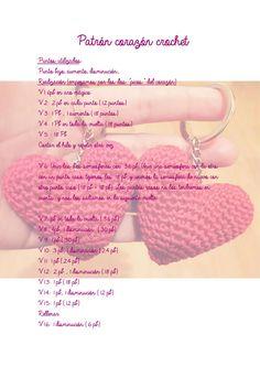 Patron corazón amigurumi cajitadecrochet.com