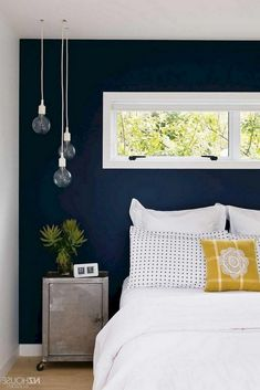 wall yellow accents bedroom accent schemes decor creative stunning regarding surely wish recent try paper ll