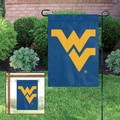 West Virginia WVU Mountaineers Applique Embroidered Window Or Yard/Garden Flag