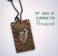 How to make an aluminum can embossed chevron pendant #Upcycle #DIY #Jewelry @savedbyloves