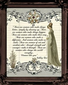 Regency Vintage Fashion Motivational Print by ChezLorraines, $18.00