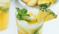 Pineapple Peach Mojito is a refreshing drink made with fresh pineapple juice, peaches, mint, and more! Cool down by enjoying this easy cocktail!