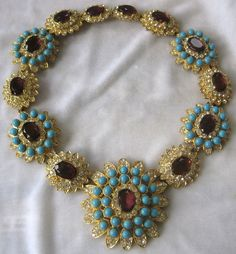 Gorgeous KENNETH LANE Large Rhinestone Bib Necklace Book Piece