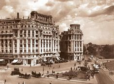 """Bucharest photos from the first decades of the century - mostly from the interwar period (between the two World Wars). ♦ The end of """"Little Paris"""" (click photo) ♦ Old Pictures, Old Photos, Mall Of America, North America, Romania Travel, Little Paris, Bucharest Romania, Royal Caribbean Cruise, London Pubs"""