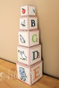 2013 Stampin' Up! Artisan Design Team winning entry, MDS 3D project, stacking/nesting blocks, Jeanna Bohanon