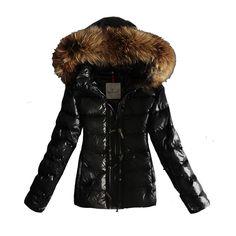 Moncler Popular Women Down Jacket Hat Double Zip Black