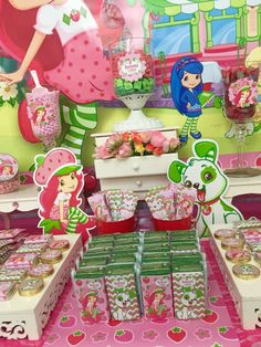 Favors at a Strawberry Shortcake birthday party! See more party ideas at CatchMyParty.com!