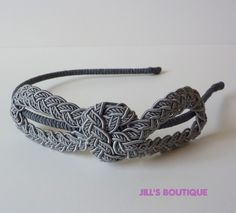 Love this! Gray Braid Infinity Headband Handmade by Jill's Boutique for Women and Teens