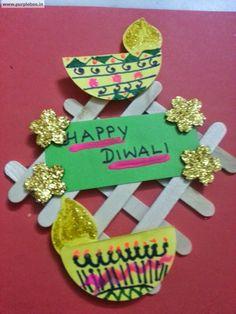 Fun Activities for Children: Diwali Fun Craft - Door Decor Diwali Cards, Diwali Greeting Cards, Diwali Greetings, Diwali Diy, Diwali Gifts, Happy Diwali, Fun Arts And Crafts, Fun Crafts For Kids, Toddler Crafts