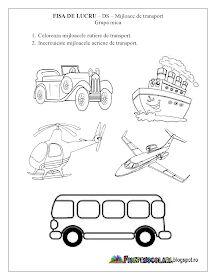 Fise de lucru - gradinita: Fise de lucru - Mijloace de Transport Grupa mica - DS - Cunoasterea mediului Preschool Education, Preschool Themes, Kids And Parenting, Autism, Transportation, Comics, Volcano, Google, Crafts