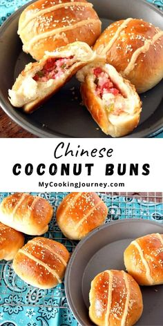 Chinese Coconut Buns (Chinese Cocktail Buns) were originally created in Hong Kong. These Gai Mei Bao have coconut and cream along with tutti frutti as its filling making it a very delicious bun. #buns #chinesebuns #coconutbuns #cocktailbuns #mycookinjourney @mycookinjourney   mycookingjourney.com