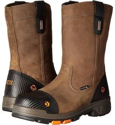 Wolverine Blade LX 10 Composite Toe (Brown) Men's Work Boots Mens Steel Toe Boots, Mens Brown Boots, Steel Toe Work Boots, Men's Shoes, Shoe Boots, Shoe Bag, Footwear Shoes, Slip On Work Boots, Dress With Boots