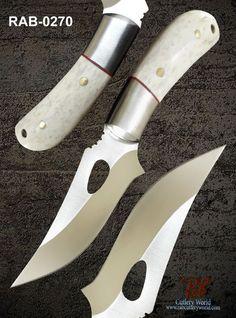 "RaB Cutlery Custom Made Fixed Blade 3.2"" x1/4""Thick D2 Tool Steel Skinning Knife #RaB"