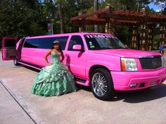 Pink Cadillac Escalade ~ what's not to love here! You go Texas!