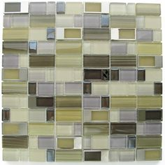 "Bangles - A unique integration of metal buckles on crystal glass. Shown here in ""East Village."" #mosaic #tiles"