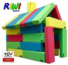 Cardboard Building Blocks, Giant Building Blocks, Big Building, Building For Kids, Soft Play Equipment, Mousse, Secret Hiding Places, Early Learning, Build Your Own