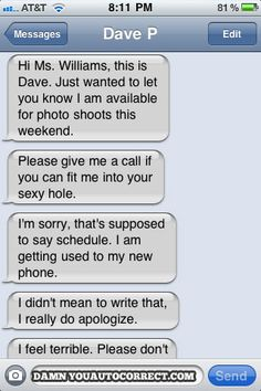 funny auto-correct texts - Best of DYAC: Weekend Photo Shoot