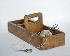 Casier en bois Boite à outils  par FrenchTouchBoutique sur Etsy