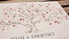 Guest book fingerprint tree, LARGE low oak (ink pads sold seperately). $100.00, via Etsy. Wedding Tree Guest Book, Guest Book Tree, Tree Wedding, Rustic Wedding, Family Tree Cakes, Family Trees, Fingerprint Tree, Fingerprint Wedding, Thumbprint Tree