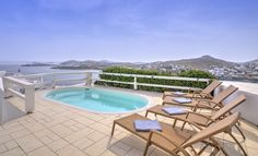 Dive in supreme luxury... What a view, what a feeling! @Santa Marina Resort & Villas, #Mykonos